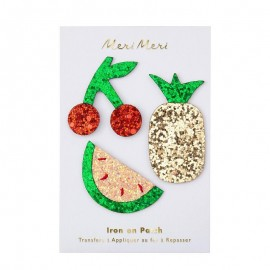 Meri Meri Iron On Patch - Glitter Fruits