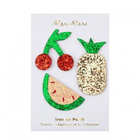 Meri Meri Iron On Patch - Glitter Fruits