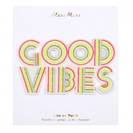 Large Meri Meri Iron On Patch - Good Vibes