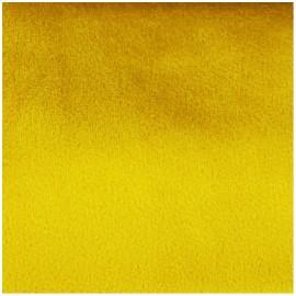 Tissu velours Brunei - jaune ambre x 10cm