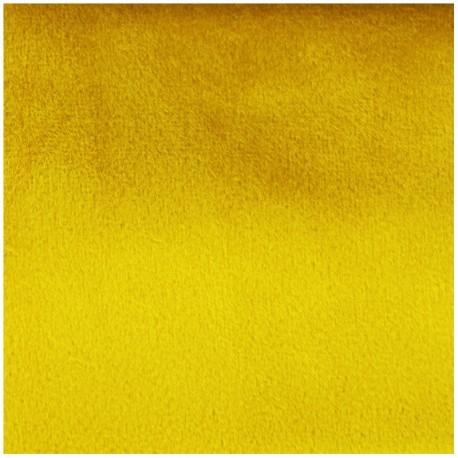 Brunei velvet fabric - yellow amber x 10cm