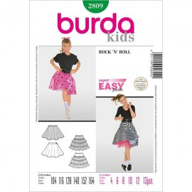 Costume Skirt Sewing Pattern for Kids - Burda N°2809