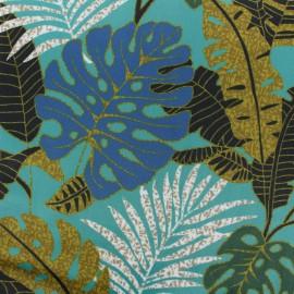 Tissu velours ras Janeiro - Emeraude x10cm