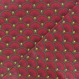 Tissu coton enduit mat Doucet - rouge x 10 cm