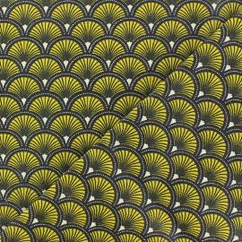 Tissu coton enduit mat Doucet - jaune x 10 cm
