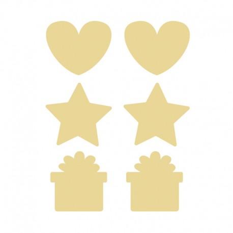 Scratch Off Sticker (36 pcs) - Gold
