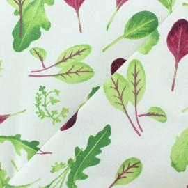 Matte Coated Cotton Fabric - raw Mesclun x 10cm