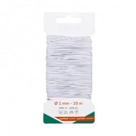 Fil Élastique 1 mm (10 m) - Blanc