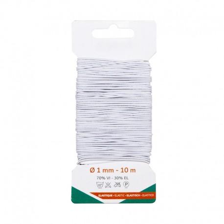 1 mm Elastic Thread (10 m) - White