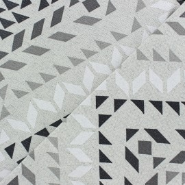 Matte Coated Cotton Fabric - Grey Kola x 20cm