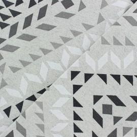 Tissu coton enduit mat Kola - gris x 20 cm