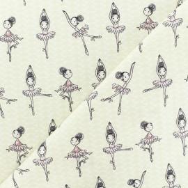 Tissu Percale de coton danseuse - beige x 10cm