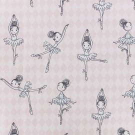 Cotton Percale fabric - light pink Ballerina x 10cm