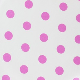 Dots Coated Cotton Fabric - Orchid / Ecru background x 10cm
