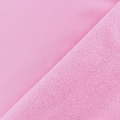Tissu Softshell uni - rose bonbon x 10cm