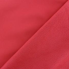 Tissu Softshell uni - rouge cerise x 10cm
