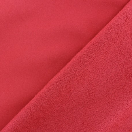 Water-repellent Softshell fabric – cherry red x 10cm