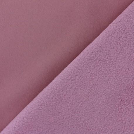 Tissu Softshell uni - Bois de rose x 10cm