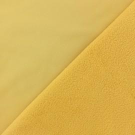 Tissu Softshell uni - jaune moutarde x 10cm