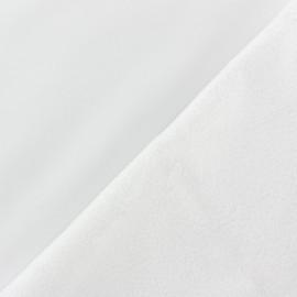 Tissu Softshell uni - Blanc x 10cm