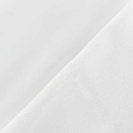 Water-repellent Softshell fabric – white x 10cm