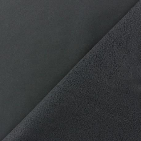 Tissu Softshell uni - gris anthracite x 10cm