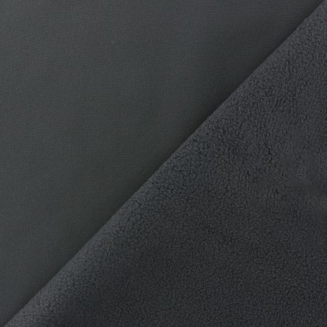 Water-repellent Softshell fabric - dark grey x 10cm