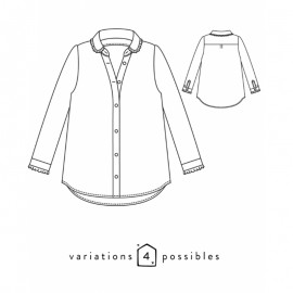 Shirt Sewing Pattern - Scämmit Liseron