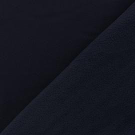 Tissu Softshell uni - bleu nuit x 10cm