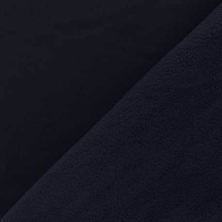 Water-repellent Softshell fabric - midnight blue x 10cm