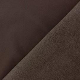 Tissu Softshell uni - chocolat x 10cm