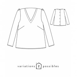 Blouse Sewing Pattern - Scämmit Idylle