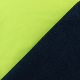 Tissu Softshell Bicolore - jaune fluo x 10cm