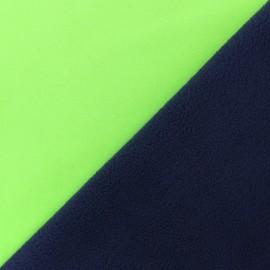 Tissu Softshell Bicolore - vert fluo x 10cm