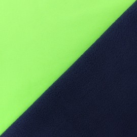 Water-repellent Neon Softshell fabric –  green x 10cm