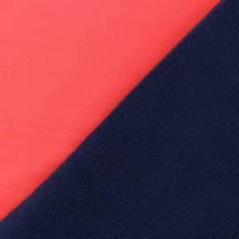 Tissu Softshell Bicolore - corail fluo x 10cm
