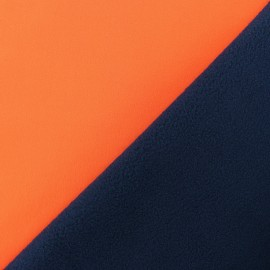 Water-repellent Neon Softshell fabric – orange x 10cm