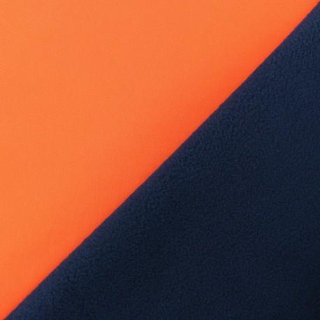 Tissu Softshell Bicolore - orange fluo x 10cm