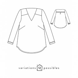 Blouse Sewing Pattern - Scämmit Be Pretty