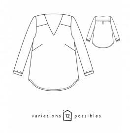 Blouse Sewing Pattern - Scämmit Be Pretty