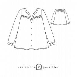 Blouse Sewing Pattern - Scämmit Envol