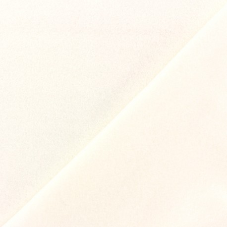 Tissu Polaire Coton uni - écru x 10cm
