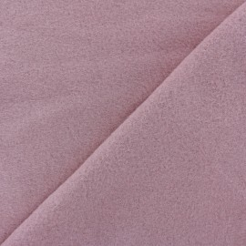 Tissu Polaire Coton uni - vieux rose x 10cm