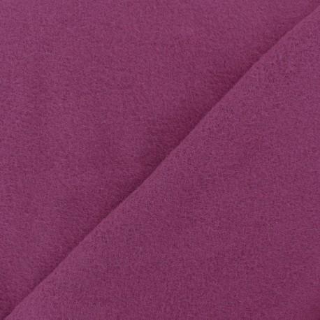 Tissu Polaire Coton uni - violine x 10cm