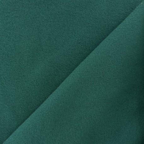 Tissu Polaire Coton uni - vert émeraude x 10cm