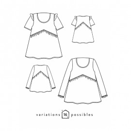 Blouse Sewing Pattern - Scämmit Virevolte