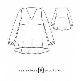 Blouse or Dress Sewing Pattern - Scämmit Zephir