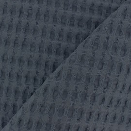 Tissu coton nid d'abeille XL - bleu gris x 10cm