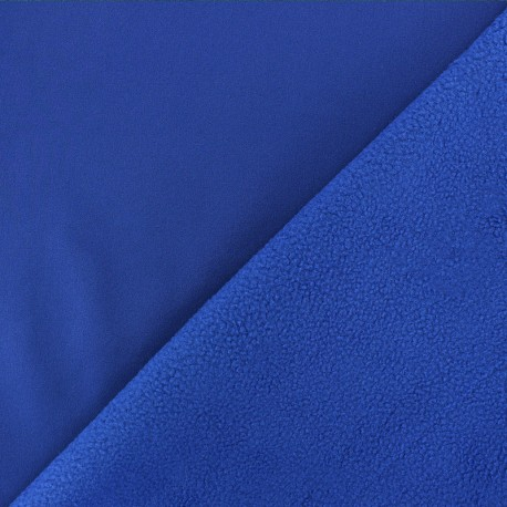 Water-repellent Softshell fabric - royal blue x 10cm