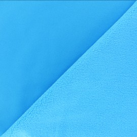 Water-repellent Softshell fabric - turquoise blue x 10cm